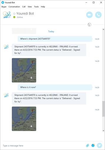 Skype chatbot