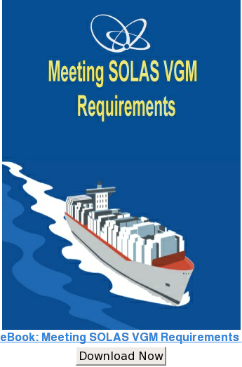 eBook: Meeting SOLAS VGM Requirements  Download Now